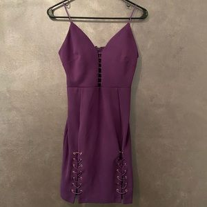Womens purple small cocktail mini dress